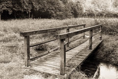 Vintage Wooden Bridge Royalty Free Stock Images