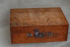 Vintage wooden briefcase royalty free stock photos