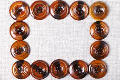 Vintage wooden buttons background Royalty Free Stock Photo