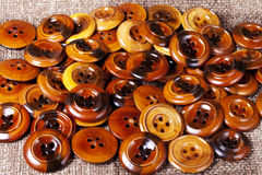 Vintage wooden buttons background Stock Images
