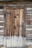 Vintage wooden cabin door Stock Photos