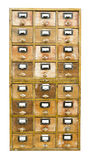 Vintage wooden cabinet with drawers Stock Images