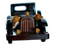 Vintage Wooden Car Toy Model Royalty Free Stock Photo