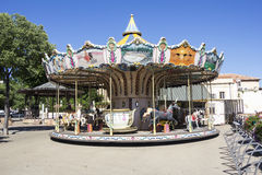 Vintage wooden carousel Royalty Free Stock Photo