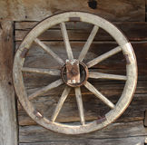 Vintage wooden carriage wheel Royalty Free Stock Photos