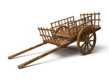 Vintage wooden cart Stock Images