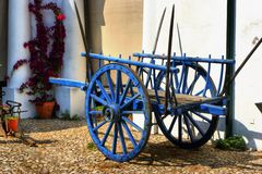 Vintage wooden cart in Alentejo Stock Image