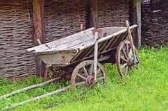 Vintage wooden cart Stock Photos