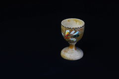 Vintage Wooden Carved Egg Cup Stock Photos