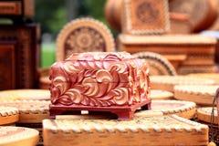 Vintage wooden casket Royalty Free Stock Images