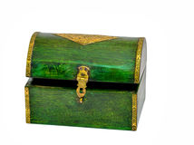Vintage wooden casket from India Royalty Free Stock Photo