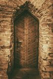 Vintage Wooden Castle Door Royalty Free Stock Images