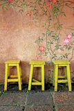 Vintage wooden chair royalty free stock photos