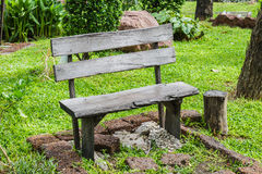 Vintage Wooden Chair. On green grass background Royalty Free Stock Image