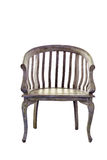 Vintage wooden chair isolated Stock Images