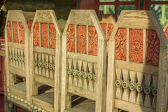 Vintage Wooden chairs in details Royalty Free Stock Photo