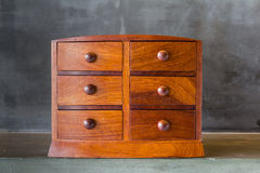 Vintage wooden chest with drawer Stock Images