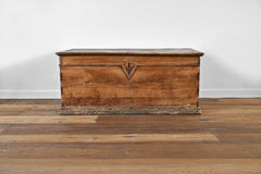 Vintage wooden chest Royalty Free Stock Photo