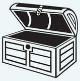 Vintage wooden chest Stock Photo
