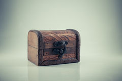 Vintage wooden chest, Stock Photography