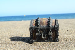 Vintage Wooden Chest Trunk Royalty Free Stock Photography