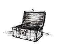 Vintage wooden chest Royalty Free Stock Images