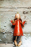 Vintage wooden Christmas angel Royalty Free Stock Photography