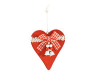 Vintage wooden Christmas decoration isolated over white. Stock Images
