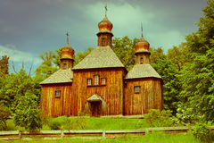Vintage wooden church Royalty Free Stock Image