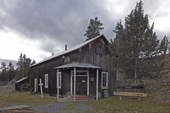 Free Vintage Wooden Church In Oregon Ghost Town Stock Photography - 37982422