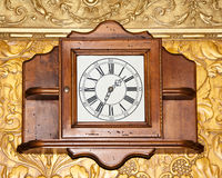 Vintage wooden clock Stock Photo