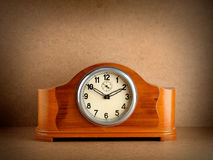 Vintage wooden clock Stock Photography
