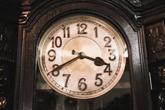 Vintage wooden clock Stock Image