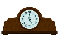 Vintage wooden clock Royalty Free Stock Image