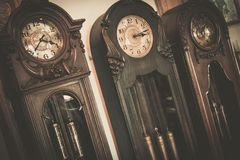 Vintage wooden clock Royalty Free Stock Photo