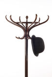 Vintage wooden coat rack royalty free stock image