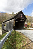 Vintage wooden covered bridge Stock Image