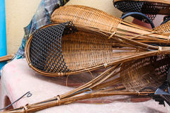 Vintage wooden dipper. A lot of Thailand Vintage wooden dipper Royalty Free Stock Photos