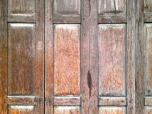The vintage wooden door Royalty Free Stock Photo