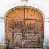 Vintage wooden door. Stock Photo