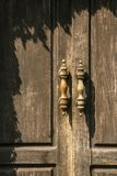 Vintage wooden door closeup Royalty Free Stock Photos