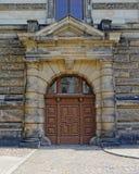 Vintage wooden door, Dresden, Germany Royalty Free Stock Images