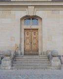 Vintage wooden door, Dresden Germany Royalty Free Stock Photography