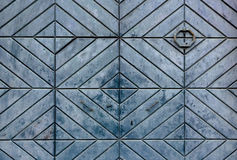 Vintage wooden door. Figured rhombus light green pattern Royalty Free Stock Images