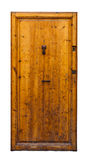 Vintage wooden door. Isolated Royalty Free Stock Photo