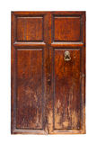 Vintage wooden door. Isolated Royalty Free Stock Image