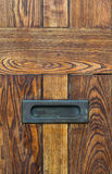 Vintage wooden door Letter box Royalty Free Stock Image