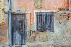 Vintage Wooden door and shutters Royalty Free Stock Images