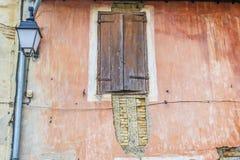 Vintage Wooden door and shutters Stock Image