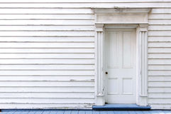 Vintage wooden door, wall and window Stock Photos